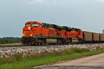 BNSF 6182 and 9363 team up on a coal empty.