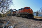 BNSF 6060 runs A NB freight into old monroe mo.