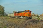 BNSF 9991 Leads a loaded coal Sb.