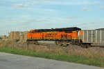 BNSF 6330 runs dpu on a loaded coal.