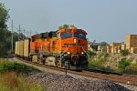 BNSF 5816 leads a loaded ucex coal sb at old Monroe.