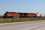 BNSF 4581 takes a Nb freight out of the siding at elsberry mo.