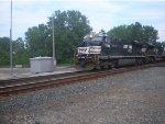 NS 7549 Crossing Sandusky Dock Line