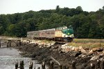 Maine Eastern RR 488 Running Along the Sheepscot River