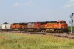 BNSF 7535 leads a trio into the Flynn Yard just south of I-240