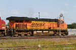 BNSF 7535 slowly glides into the Flynn Yard for a crew change