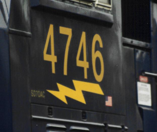 Numberboard of NEW SD70AC
