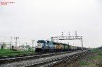EMDX 9044 Westbound with UP3524,BN7284 Eola Yard Illinois