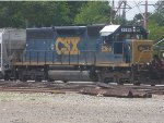 CSX 8369 Setting Hoppers in NS Interchange Yard