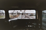 Looking out of cab BNSF 4852