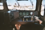 Cab view of CSXT 9001