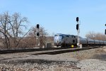 Amtrak train 284 splits the CP175 signal eastbound