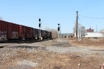 Two CSX freights meet at CP175 Amsterdam, NY