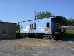 Ex Conrail Caboose off of Clark Rd. Duryea at PowerRail Distributors.. This just appeared there in Summmer '12.