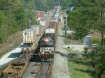 Trains meet at England interlocking