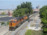 BNSF 6436 & 6109 bring N956-22 east past the WAS Pleasant St