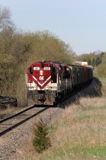 Just outside Woodstock, 383 leads west at a slow but steady pace with cars for Ingersoll