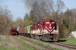 383 & 378 work hard as they pull their heavy train forward