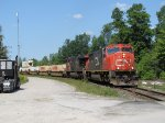 CN 5644 & 2248 rounds the curve as they lead L596