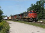 CN 2301 starts into the tight curve that will turn M314 south toward Toronto