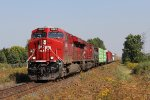 Approaching the end of the Windsor Sub, CP 9362 & 8726 roll west with 243