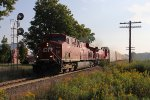 CP 8886 & 8561 races west at the east end of Nissouri with train 235