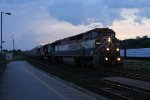 In a gap between passing storms, BCOL 4612 leads A434 east through Brantford