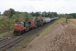 CN 5737 rolls over the Paris West crossovers as it leads X396 east