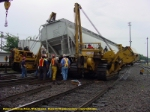 Hulcer cleaning up the derailment.