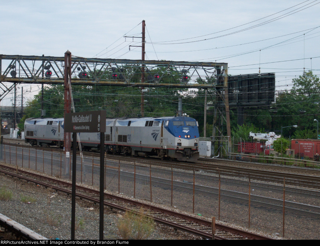 Amtrak P42DC Power move and Position Lights