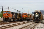 BNSF and NS Trains