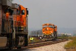 BNSF and NS Train Meet