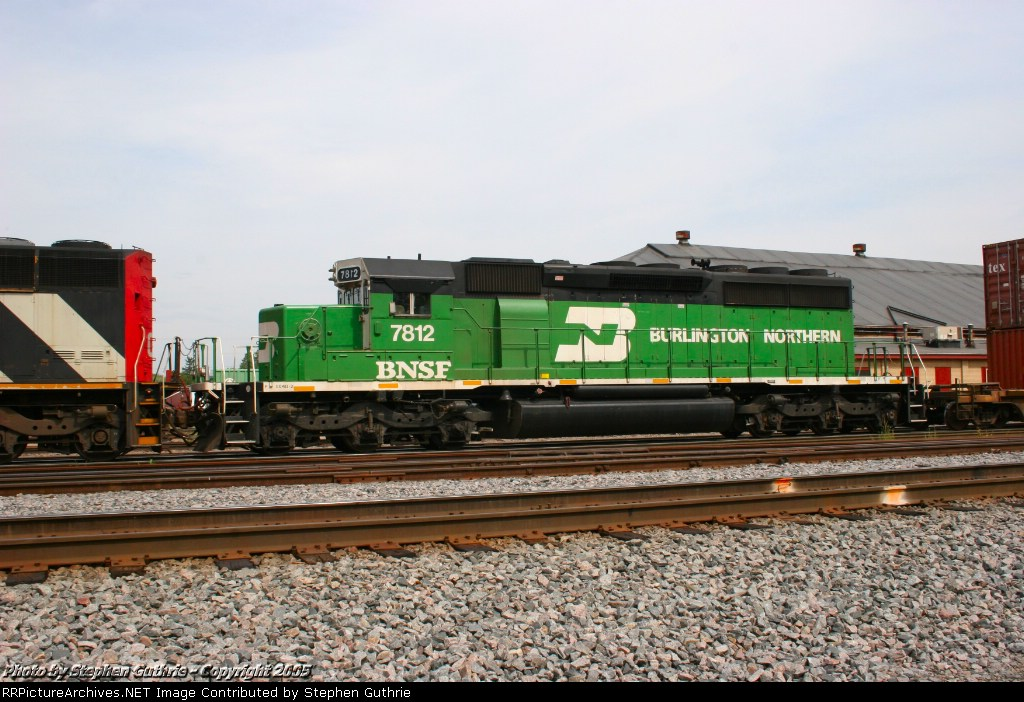 BNSF 7812 - Formerly the only tiger striped SD40-2.