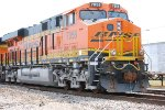 BNSF 7058 Lead Unit on a light power move heads east.