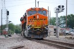With a High Ball Green BNSF 7058 proceeds through the Vinita Intersection and heads east.