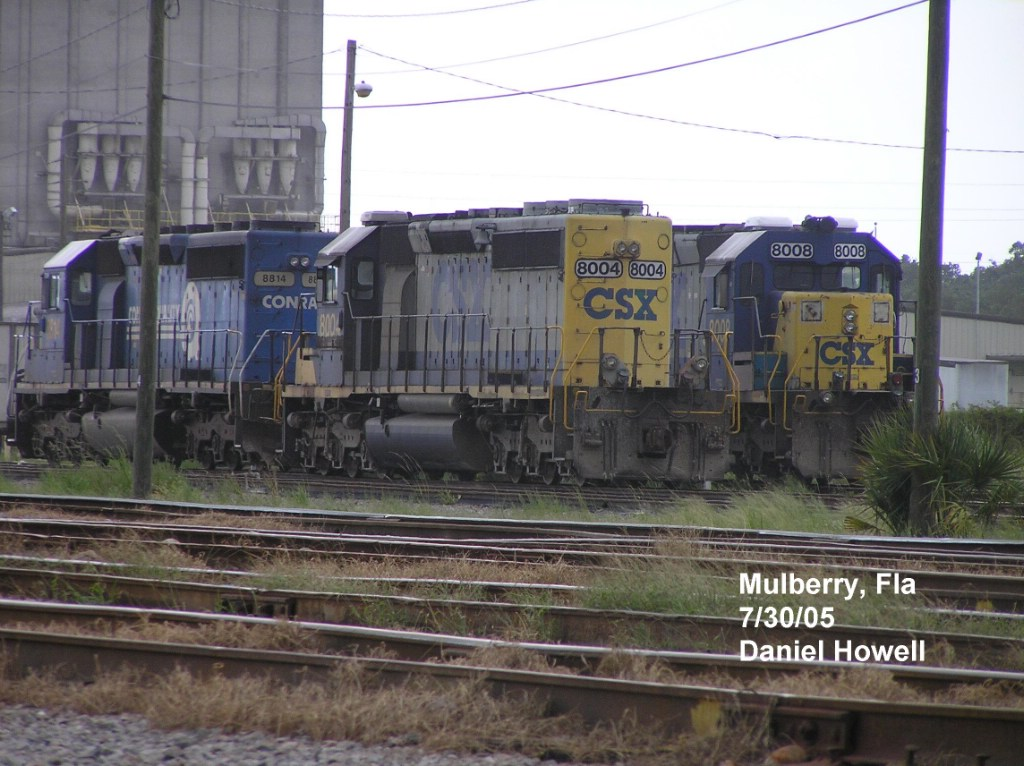 CSX power at Mulberry yard