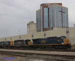 A CSX loaded coal train enters the Kayne Ave. Crew Change point