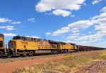 UP 5468 Herzog Ballast Loads WB on the Laramie Sub