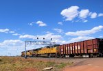 UP 4348 Herzog Ballast Loads WB on the Laramie Sub