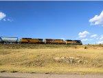 UP 1995 C&NW Heritage Leads EB Manifest on Laramie Sub