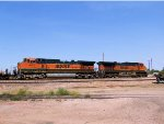 BNSF 1073 & 973 Bringing In Doublestack
