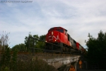 CN 5739 leading M34191-02 at Amherst, WI.