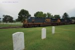 CSX 835/982 passing through Nashville National Cemetery