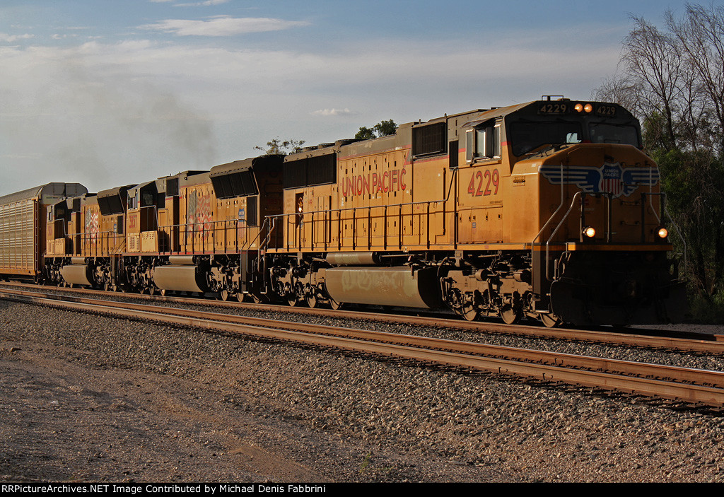 Eastbound stack train headed into the Tucson yard