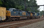 CSX CW40-8 7921 trails on Q439-03
