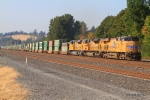 UP 7868 hauling soft top containers