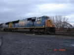 A pair of SD70MAC's lead the CSX L626 EB on the #2 Track