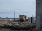 UP 4182 backs into the yard with the CSX Q109