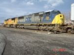 CSX 749 & UP 4182 lead the CSX Q109 WB