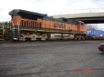 BNSF 1075 runs long hood forward WB on the CSX Q165